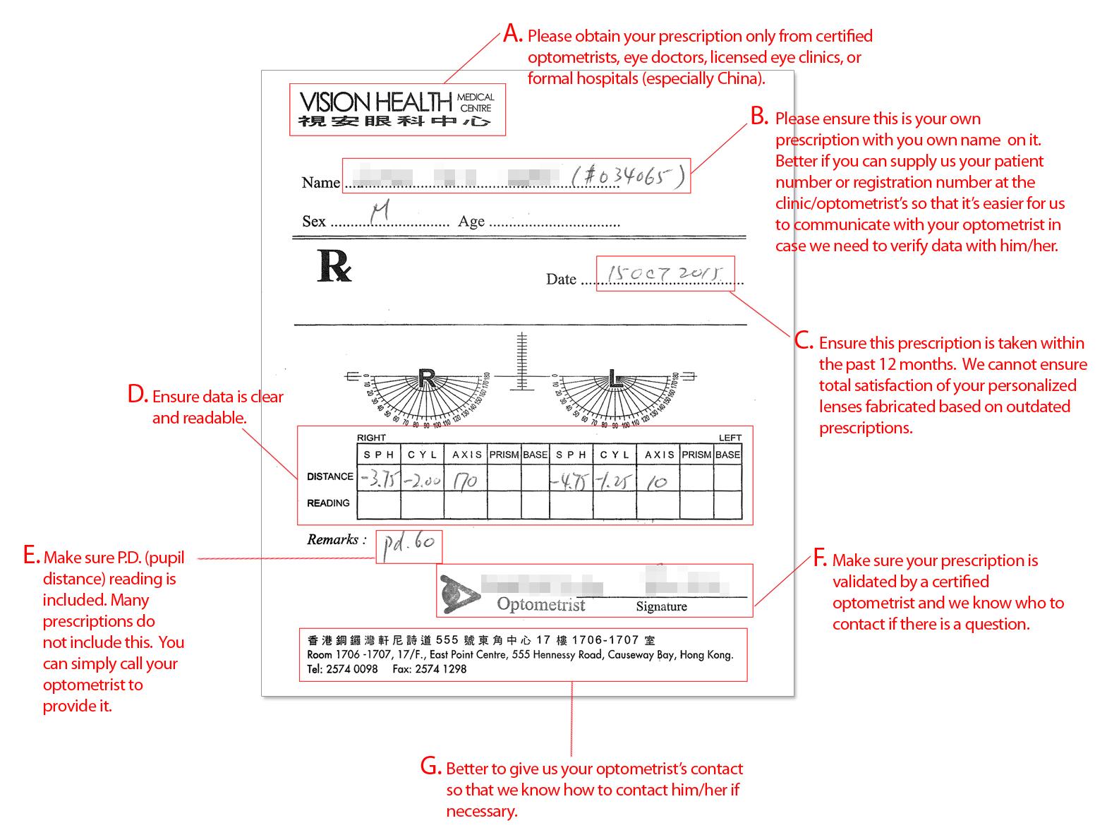 prescription sample